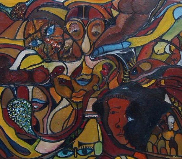 Life giver 2 oil on canvas Sitha - Copy